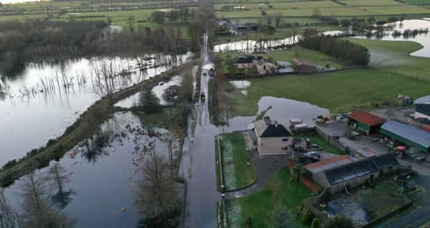 Flooding around Lough Funshinagh in Co Roscommon in January. Photograph: Lough Funshinagh Flood Crisis