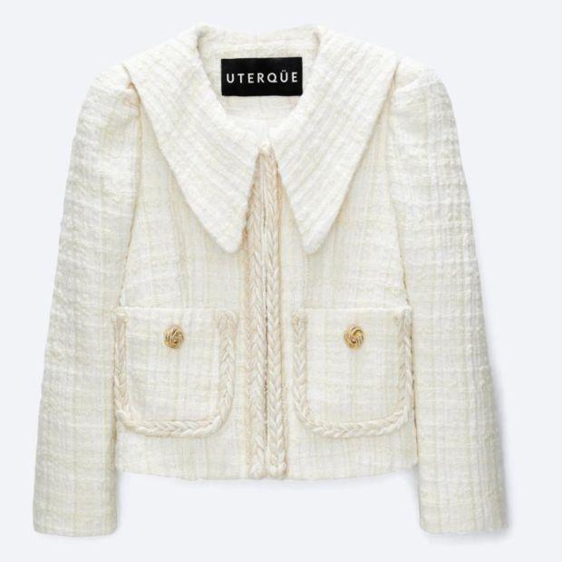 Collared jacket €199, Uterqüe