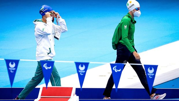 Róisín Ní Riain nadó otra marca personal en la segunda jornada de los Juegos Paralímpicos de Tokio.  Fotografía: Tommy Dickson / Inpho