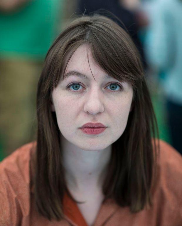Sally Rooney di Hay Festival tahun 2017. Foto: David Levenson/Getty