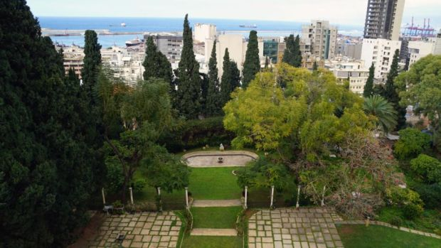 The gardens of Sursock Palace.  Photography: Hannah McCarthy