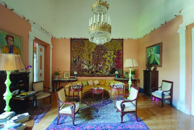 A room in Sursock Palace before the port explosion.  Photography: Ferrante Ferranti