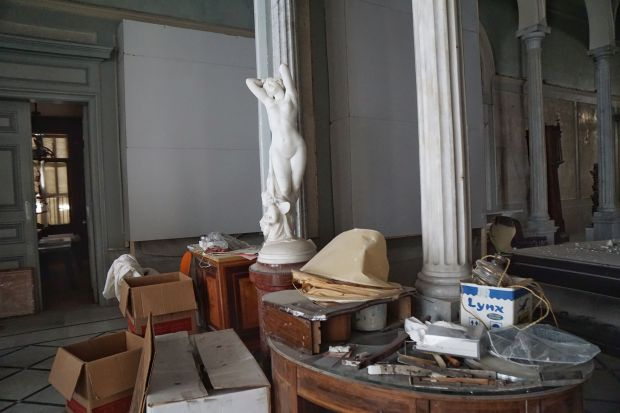 The statue is one of a pair that was part of a series titled