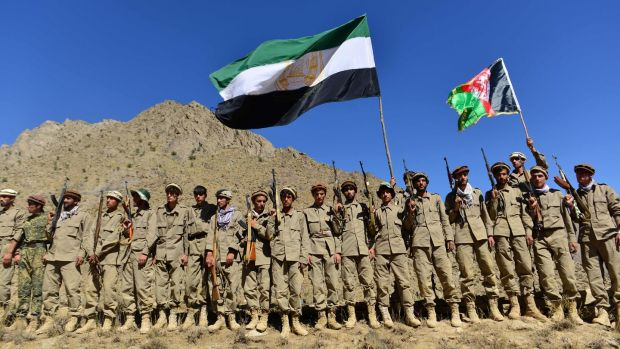 The Afghan resistance movement and anti-Taliban uprising forces in the Panjshir province, the last major holdout of anti-Taliban forces. Photograph: Ahmad Sahel Arman/AFP/Getty Images
