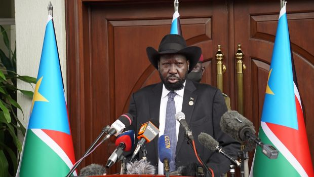 South Sudan President Salva Kiir called on the South Sudanese 'to recover the lost decade'. Photograph: Peter Louis Gume/AFP via Getty Images