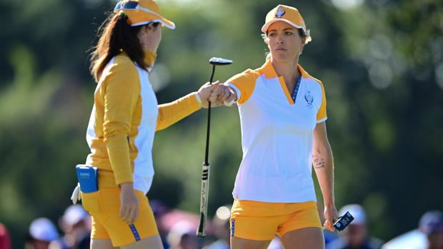 Europe's Mel Reid and Leona Maguire were victorious again on Sunday. Photograph: David Dermer/AP