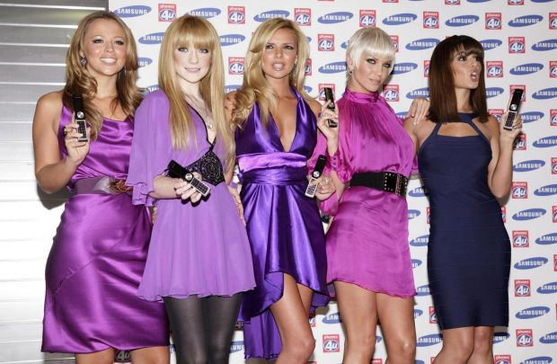Sarah Harding (second from left) with her Girls Aloud bandmates in 2007. Photograph: Yui Mok/PA Wire