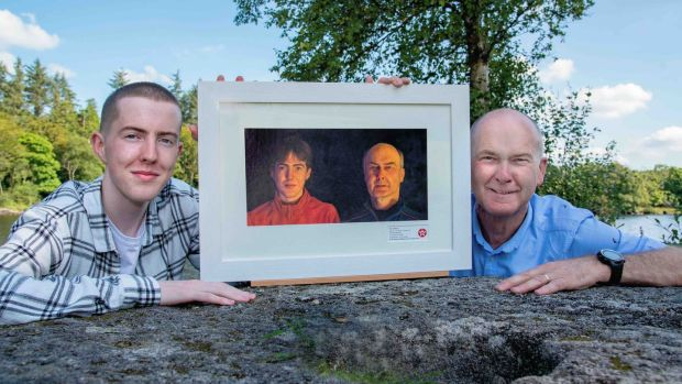 PJ Doherty avec son père Patrick.  Photographie: Clive Wasson/Mac Innes Photographie