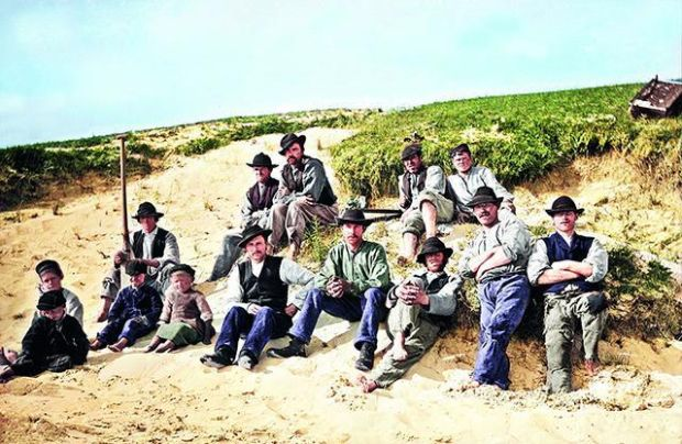 Ardara circa 1890s Local fishermen and boys from Ardara, County Donegal.  Photograph: The Color of Ireland
