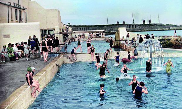 Dún Laoghaire public baths in County Dublin.  Photograph: Dillon Family of The Color of Ireland