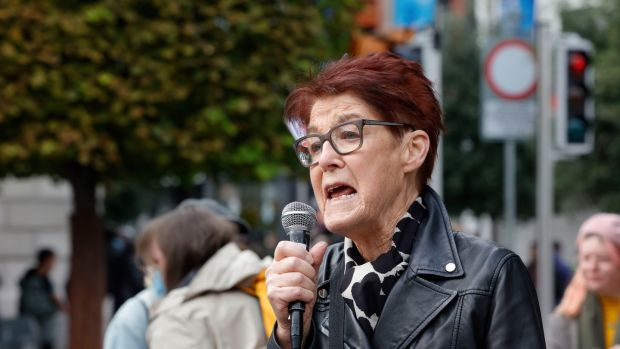 Ailbhe Smyth: 'We understand your struggle. We know your fight. We are here to do whatever we can.' Photograph: Alan Betson