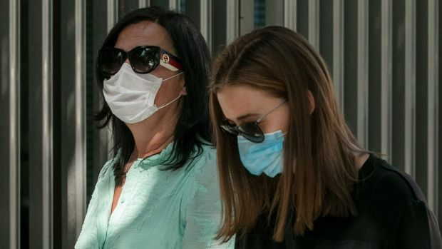 Nadine Lott's mother Claire Lott (left) and sister Tanith Lott pictured at the Central Criminal Court in the summer. File photograph: Collins Courts
