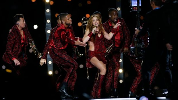 Shakira se presenta durante el espectáculo de medio tiempo del Pepsi Super Bowl LIV en el Hard Rock Stadium en Miami, Florida en febrero de 2020. Fotografía: Michael Zagaris / San Francisco 49ers / Getty Images
