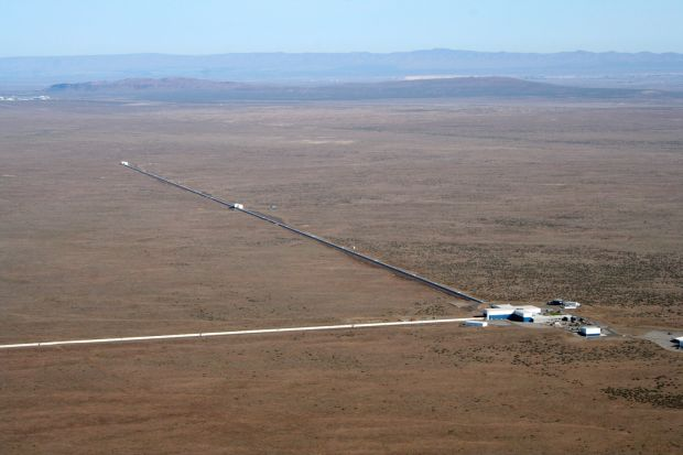 Ligo: the project's detector site in Washington state. The other is in Louisiana. Photograph courtesy of Caltech/MIT/Ligo