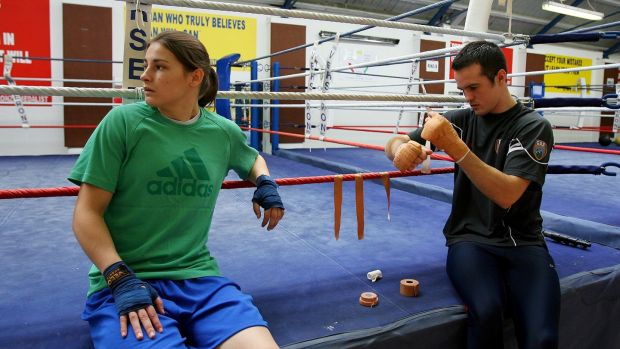 O'Neill with Katie Taylor in 2009. Photo: Cathal Noonan/Inpho