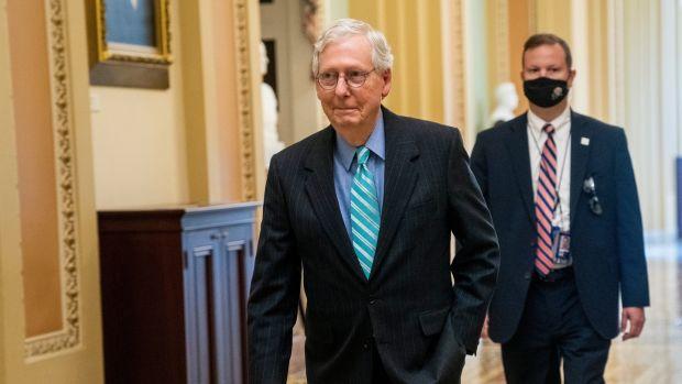 Senate minority leader Mitch McConnell. Photograph: Shawn Thew/EPA