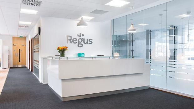 Regus reception.