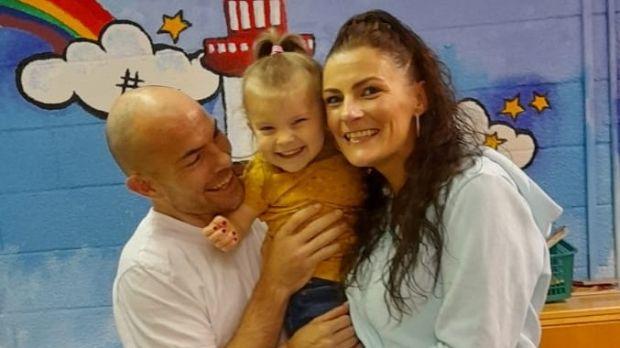 Paul Murphy and Kimberley Haynes with Aoife Haynes Murphy
